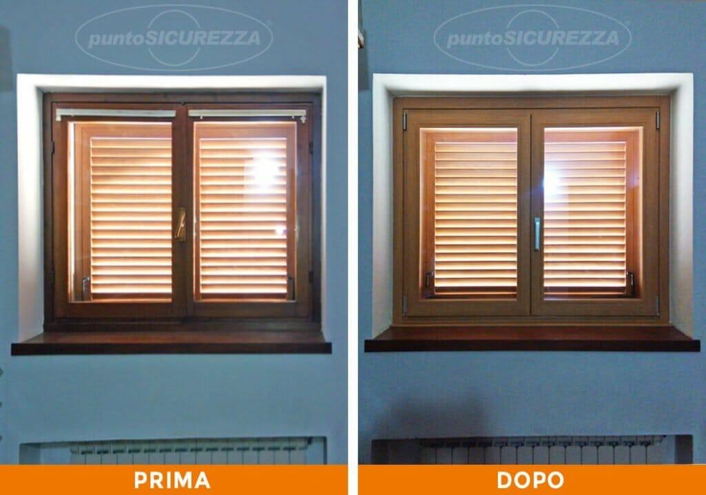 Punto Sicurezza Casa - Installazione Finestre alluminio bicolore Monza