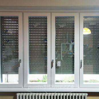 Il nuovo serramento quattro ante in legno alluminio vista frontale