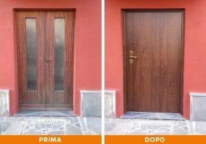 Installazione Porta blindata con vetro a Como