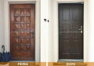 Installazione Porta blindata Legno PVC Chiasso