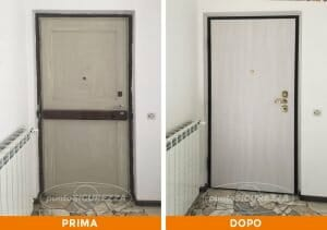 Installazione Porta blindata in legno a Como